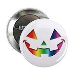"""Smiley Halloween Rainbow 2.25"""" Button"""