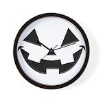 Smiley Halloween Black Wall Clock