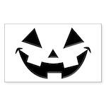 Smiley Halloween Black Rectangle Sticker 50 pk)