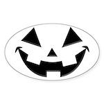 Smiley Halloween Black Oval Sticker (10 pk)