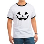 Smiley Halloween Black Ringer T