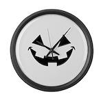 Smiley Halloween Black Large Wall Clock
