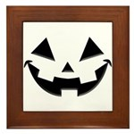 Smiley Halloween Black Framed Tile