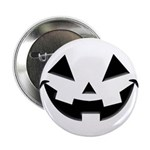 """Smiley Halloween Black 2.25"""" Button (100 pack"""