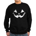 Smiley Halloween White Sweatshirt (dark)