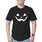 Smiley Halloween White Men's Fitted T-Shirt (dark)