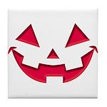 Smiley Halloween Red Tile Coaster