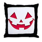 Smiley Halloween Red Throw Pillow