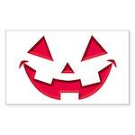 Smiley Halloween Red Rectangle Sticker 50 pk)