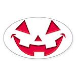Smiley Halloween Red Oval Sticker (10 pk)