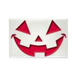 Smiley Halloween Red Rectangle Magnet (100 pack)