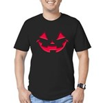 Smiley Halloween Red Men's Fitted T-Shirt (dark)