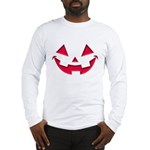 Smiley Halloween Red Long Sleeve T-Shirt