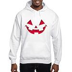 Smiley Halloween Red Hooded Sweatshirt