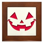 Smiley Halloween Red Framed Tile