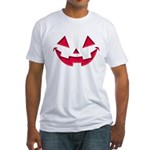 Smiley Halloween Red Fitted T-Shirt