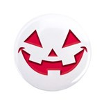 """Smiley Halloween Red 3.5"""" Button (100 pack)"""