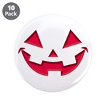 """Smiley Halloween Red 3.5"""" Button (10 pack)"""