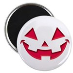 """Smiley Halloween Red 2.25"""" Magnet (100 pack)"""