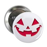 """Smiley Halloween Red 2.25"""" Button"""