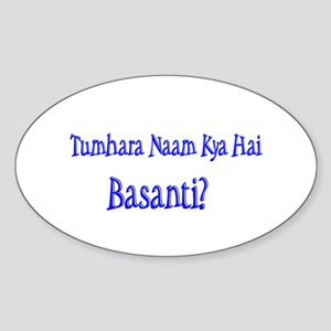 Basanti Oval Sticker