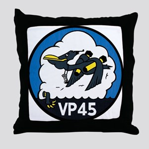 Patrol Squadron VP 45 US Navy Ships Throw Pillow