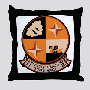 Training Squadron VT 4 US Navy Ships Throw Pillow