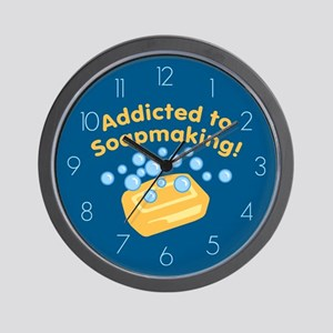 Addicted to Soap Craft Wall Clock