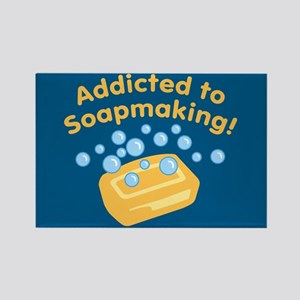 Addicted to Soap Craft Rectangle Magnet