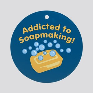 Addicted to Soap Craft Ornament (Round)