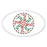 Joy & Peace Oval Sticker