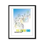 Tel Aviv 100 - Street Framed Panel Print