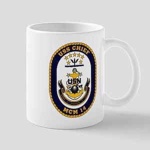 USS Chief MCM 14 US Navy Ship Mug