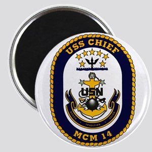 USS Chief MCM 14 US Navy Ship Magnet