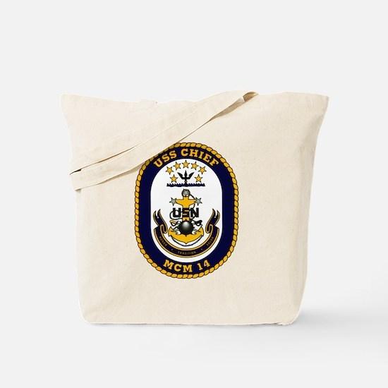 USS Chief MCM 14 US Navy Ship Tote Bag