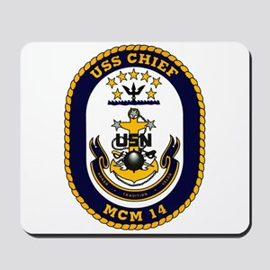 USS Chief MCM 14 US Navy Ship Mousepad