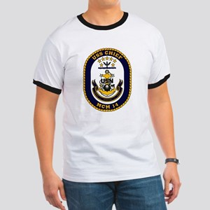 USS Chief MCM 14 US Navy Ship Ringer T
