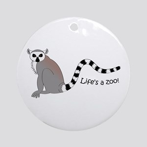 Ring-tailed Lemur Ornament (Round)