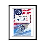 New York Loves Israel Framed Panel Print
