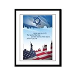 Holy Land of The Free Framed Panel Print