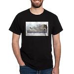 """Happy Dog"" Black T-Shirt"