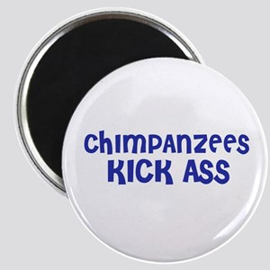 Chimpanzees Kick Ass Magnet