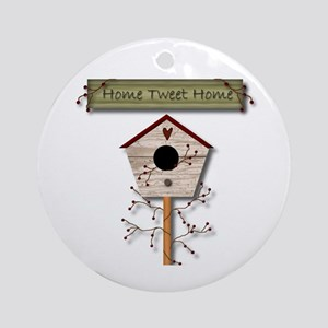 Home Tweet Home Ornament (Round)