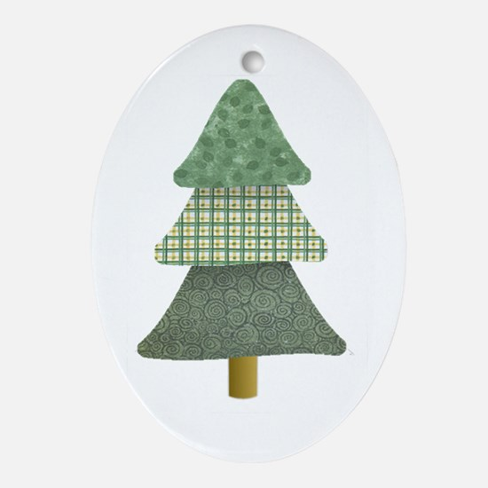 Country Tree Oval Ornament