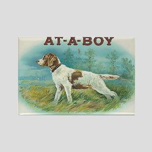 At-A-Boy Hunting Dog Vintage Art Rectangle Magnet