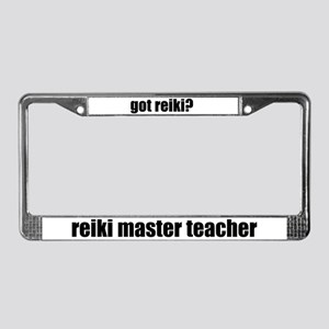 got reiki? Reiki Master Teacher Lic Plate Frame