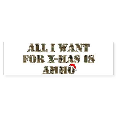 Camo Ammo XMAS Bumper Sticker