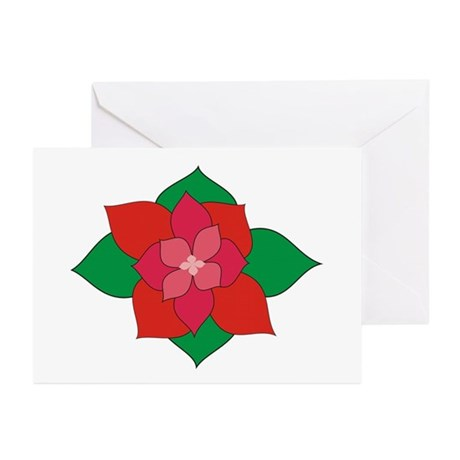 Christmas Flower Greeting Cards (Pk of 20)