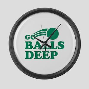 Go Balls Deep Large Wall Clock
