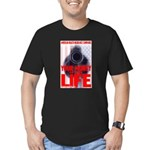 Your Money or Your Life Men's Fitted T-Shirt (dark